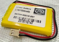 lithium ion battery 3.7v 1000mAh