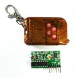 4CH RF Remote Key with Receiver 433MHz