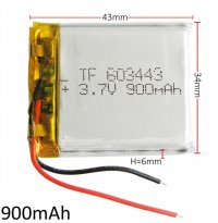 Lithium Ion Battery 3.7v 900mA