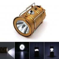 Solar Powered LED Collapsible Flashlight