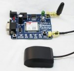 Sim808 GSM/GPRS/GPS Serial & TTL Modem with Free Antenna
