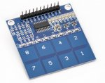 4x2 Capacitive Touch Keypad